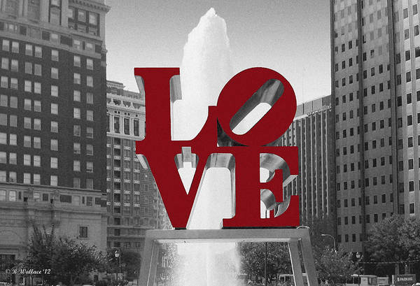 Fx Photograph - Love Is Red by Brian Wallace