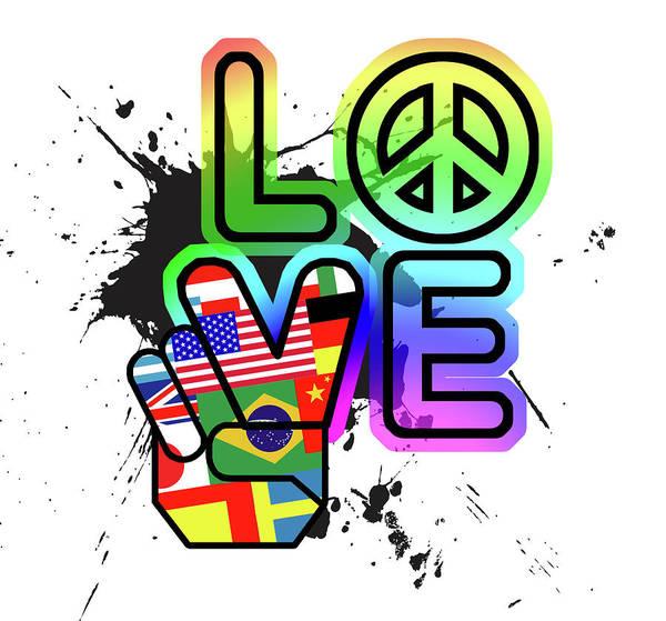 Peace Wall Art - Painting - Love by Jim Baldwin