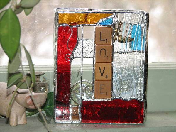 Glass Art - Love by Karin Thue