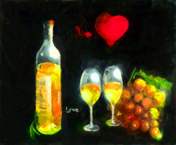 Vino Painting - Love  by Marcello Cicchini