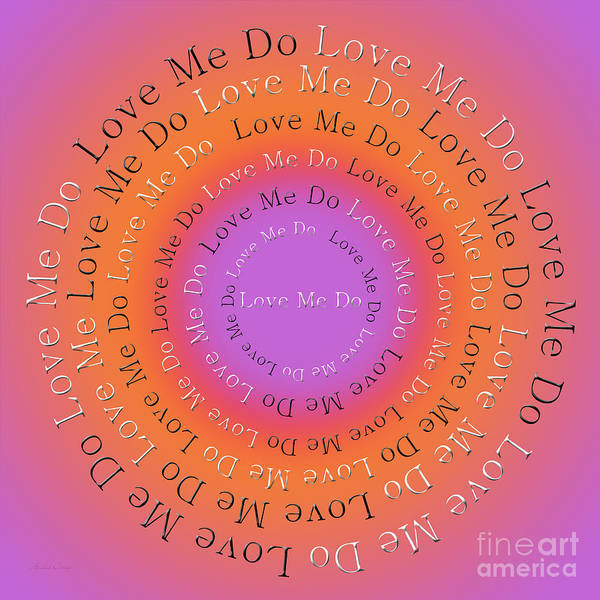 Digital Art - Love Me Do 2 by Andee Design