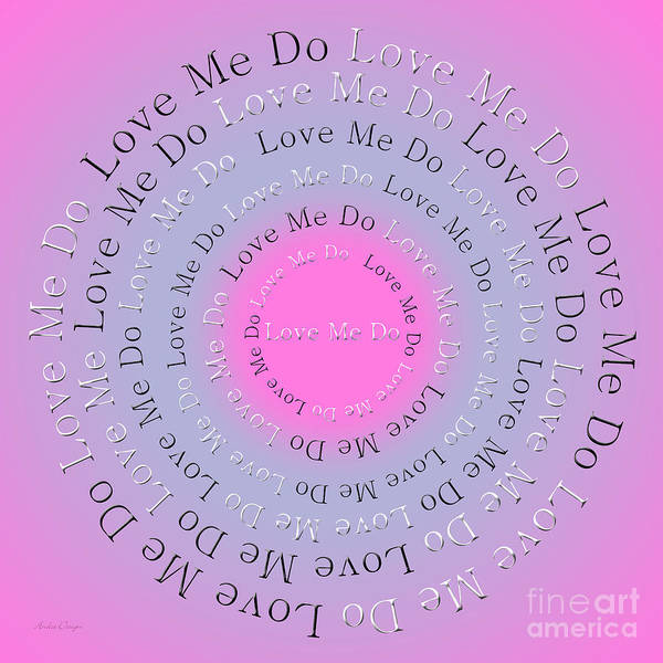 Digital Art - Love Me Do 3 by Andee Design