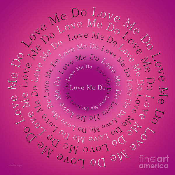 Digital Art - Love Me Do 5 by Andee Design