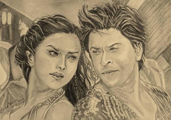 Bollywood Wall Art - Drawing - Love Mera Hit Hit by Linda Prediger