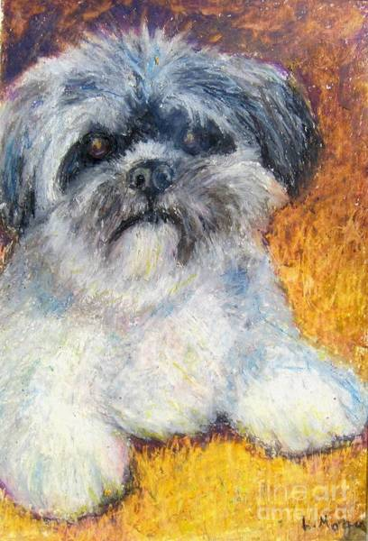 Painting - Love My Lhasa by Laurie Morgan