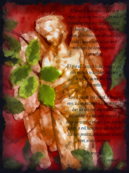 Statue Mixed Media - Love Never Fails 3 by Angelina Tamez