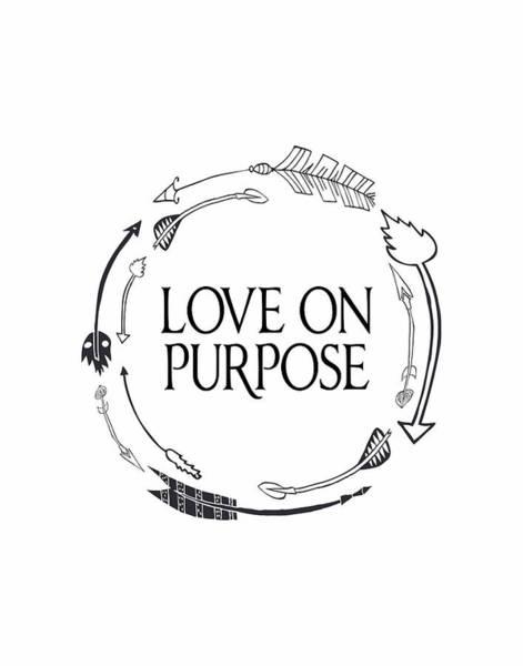 Wall Art - Painting - Love On Purpose Wreath by Tara Moss