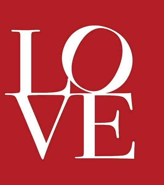 Wedding Gift Digital Art - Love On Red by Dan Sproul