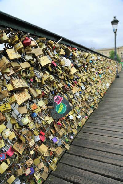Love Photograph - Love Padlocks On Pont Des Arts Bridge by Bruce Yuanyue Bi