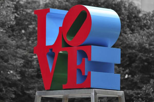 Photograph - Love Park Philadelphia by Terry DeLuco