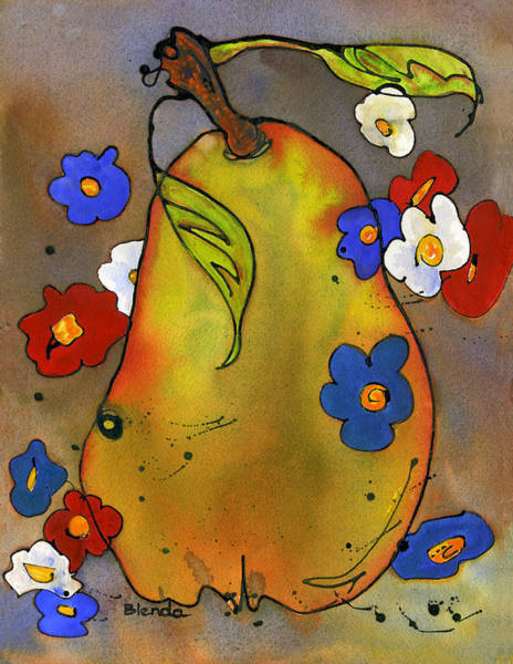Wall Art - Painting - Love Pear  by Blenda Studio