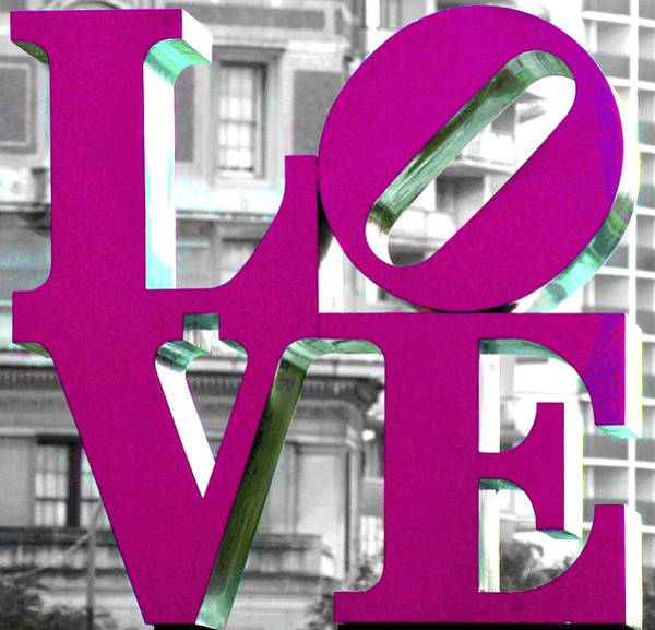 Photograph - Love Philadelphia Pink  by Terry DeLuco