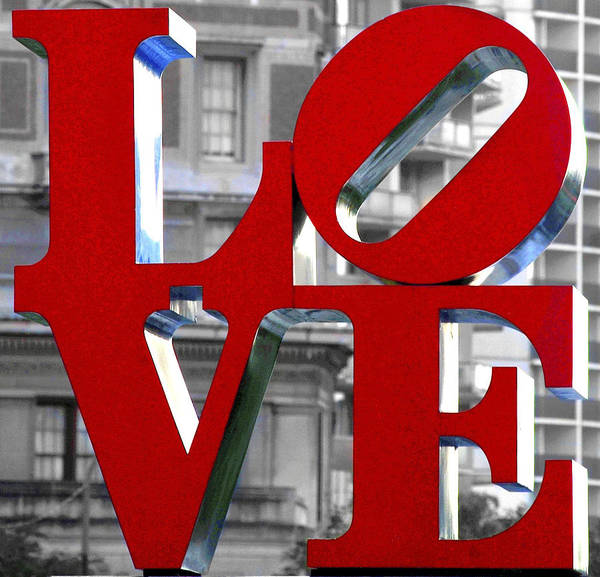 Photograph - Love Philadelphia Red by Terry DeLuco