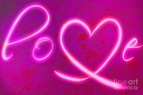 Painting - Love Pink Glow by Catherine Lott