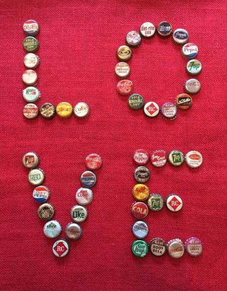 Soda Pop Mixed Media - Love Pop by Carol Neal