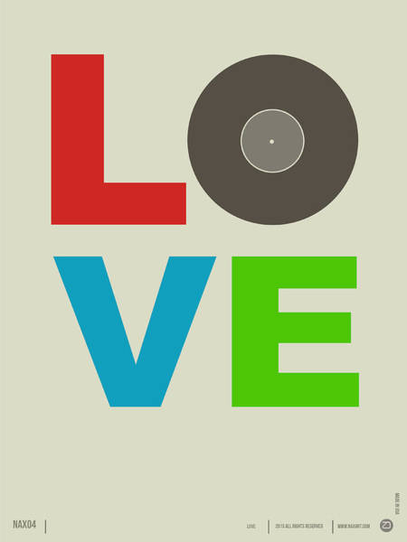 Amusing Wall Art - Digital Art - Love Poster by Naxart Studio