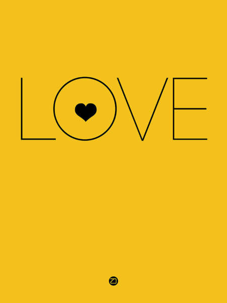 Lover Wall Art - Digital Art - Love Poster Yellow by Naxart Studio