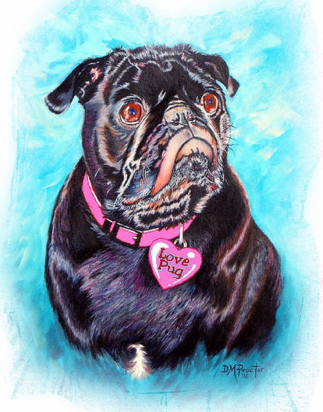 Painting - Love Pug by Donna Proctor