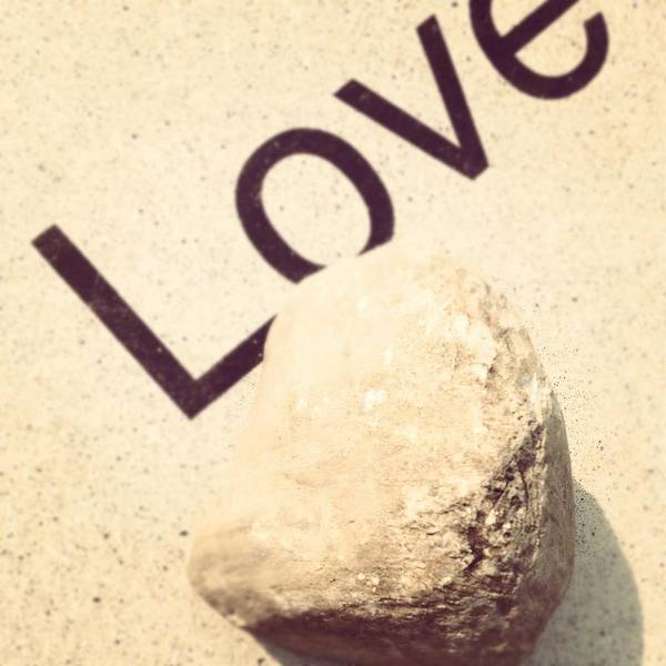 Love Rocks Art Print