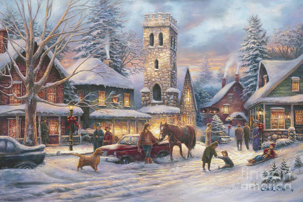Church Painting - Love Runs Deep by Chuck Pinson