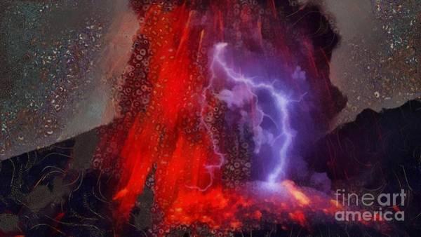 Volcanoe Painting - Love Struck Volcanoe by Catherine Lott