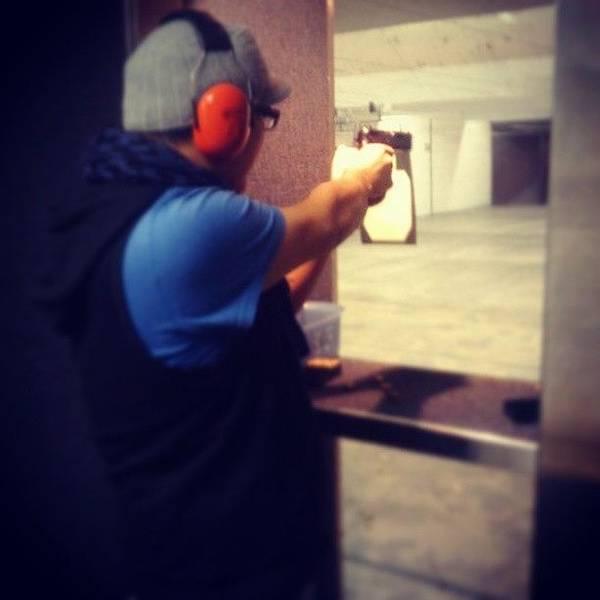 Handguns Photograph - Love The Gun Range. <3 #me #selfie by Andres Delgado