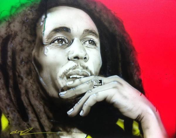 Reggae Wall Art - Painting - Love The Life You Live, Live The Life You Love by Christian Chapman Art