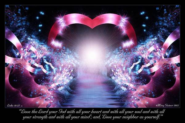 Digital Art - Love The Lord by Missy Gainer
