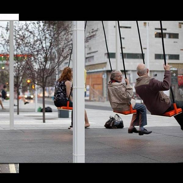 Bus Photograph - Love This... #swings At #bus Stops In by Robin Mead