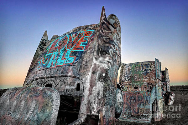 Photograph - Love To All Cadillac Ranch by Martin Konopacki