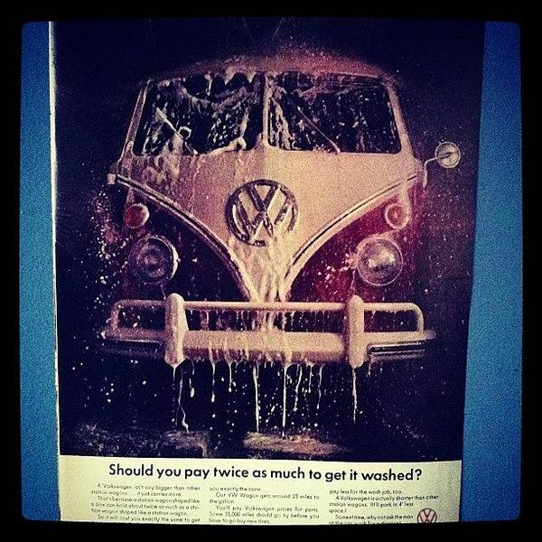 Love Vw Ads🚌 #vw#bus#vintage#ads Art Print