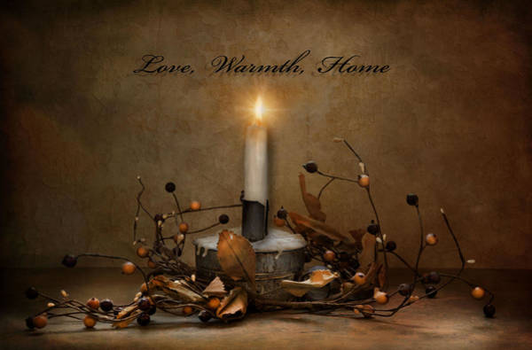 Love Warmth Home Art Print