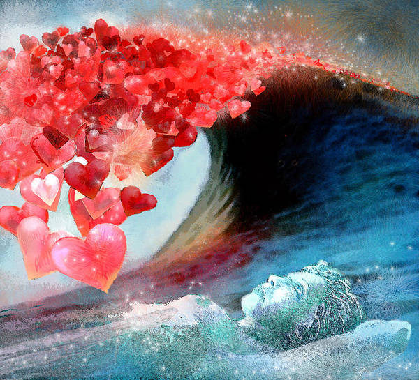 Painting - Love Wave by Miki De Goodaboom