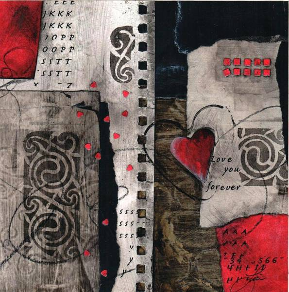 Love You Mixed Media - Love You Forever by Laura  Lein-Svencner