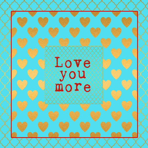 Beehive Digital Art - Love You More by Bonnie Bruno