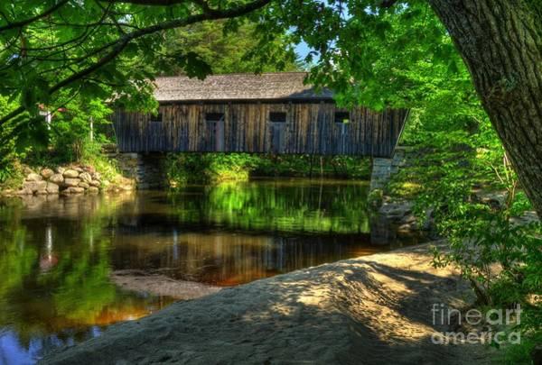Photograph - Lovejoy Covered Bridge 2 by Mel Steinhauer