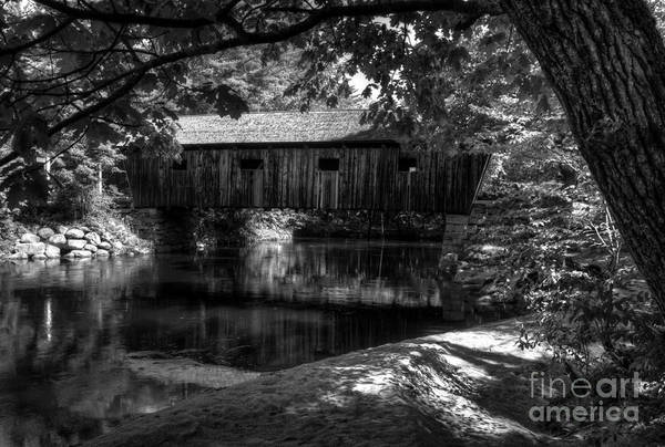 Photograph - Lovejoy Covered Bridge 2bw by Mel Steinhauer