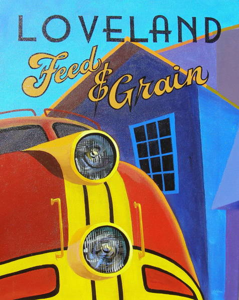 Painting - Loveland Feed And Grain #2 by Alan Johnson
