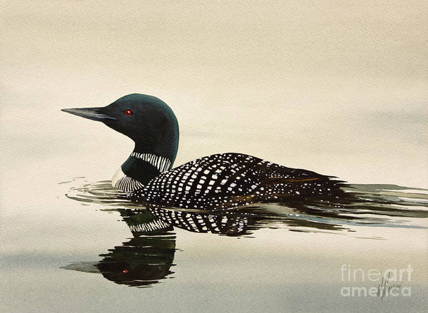 Loon Painting - Loveliest Of Nature by James Williamson