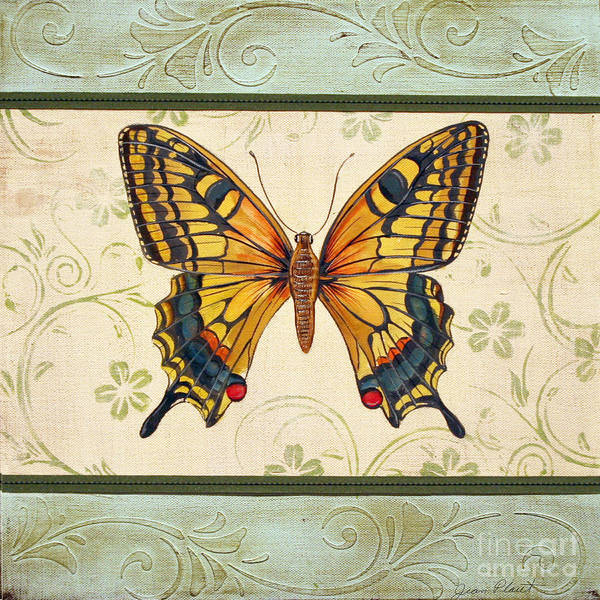 Emboss Wall Art - Painting - Lovely Butterfly-1 by Jean Plout