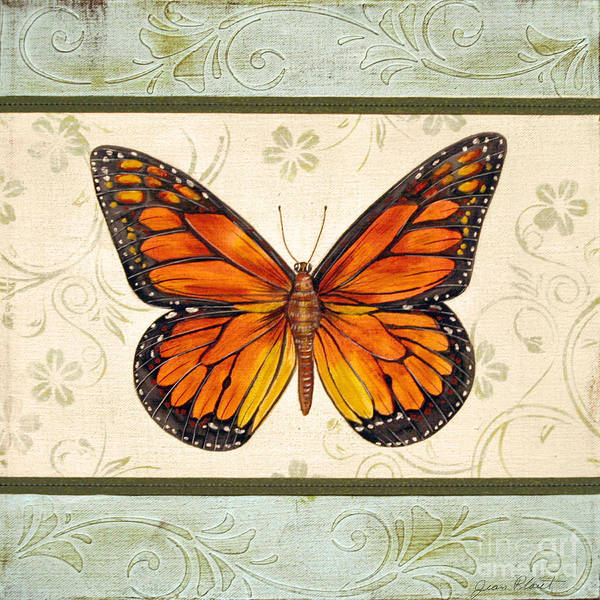 Emboss Wall Art - Painting - Lovely Butterfly-2 by Jean Plout