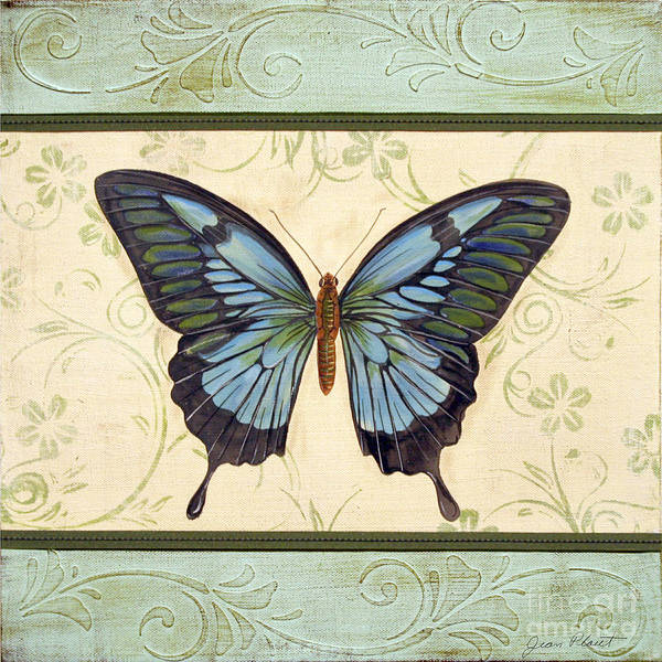 Emboss Wall Art - Painting - Lovely Butterfly-3 by Jean Plout