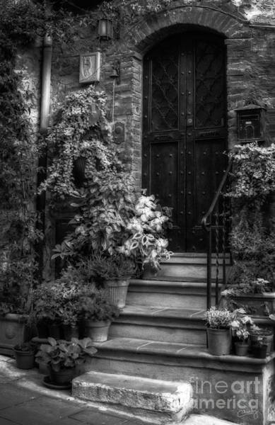 Photograph - Lovely Entrance In Black And White by Prints of Italy