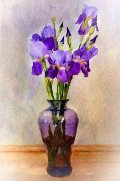 Wall Art - Photograph - Lovely Iris by Kathy Jennings