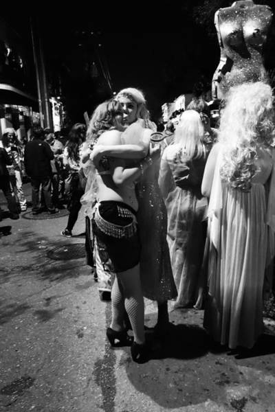 Photograph - Lovely Ladies At Krewe Du Vieux In New Orleans by Louis Maistros