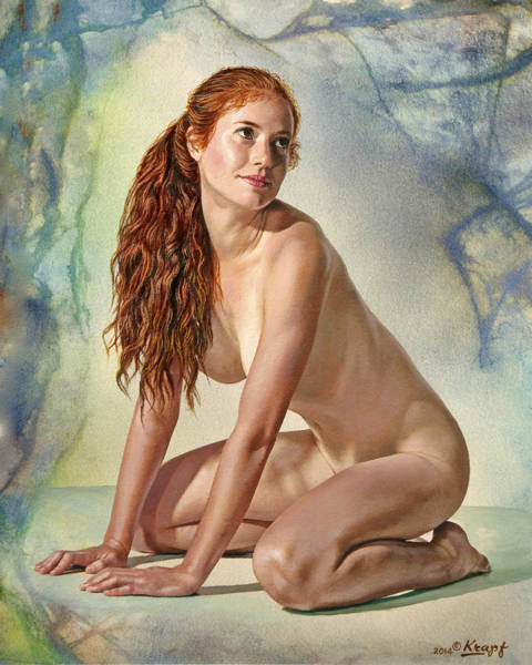 Wall Art - Painting - Lovely Muse by Paul Krapf