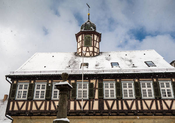 Photograph - Lovely Old Half-timbered House In Waldenbuch Germany In Winter by Matthias Hauser