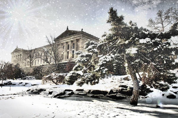 Photograph - Lovely Snow On The Museum by Alice Gipson