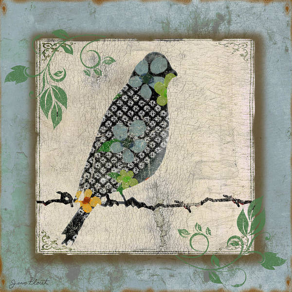Wire Digital Art - Lovely Song Bird-a by Jean Plout