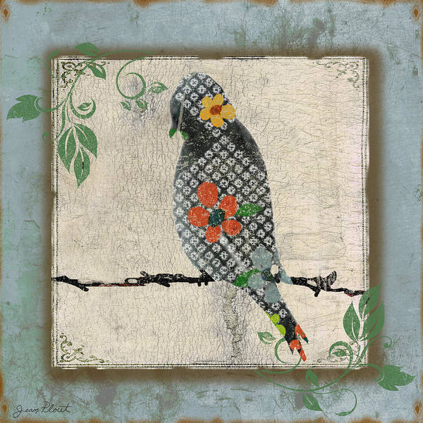 Wire Digital Art - Lovely Song Bird-c by Jean Plout